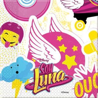 36-teiliges Party-Set Soy Luna - Teller Becher Servietten für 8 Kinder