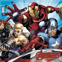 37-teiliges Party-Set MARVEL Mighty Avengers - Teller Becher Servietten Tischdecke für 8 Kinder