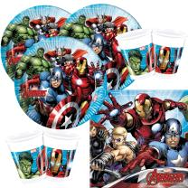 52-teiliges Party-Set MARVEL Mighty Avengers - Teller...