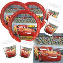 52-teiliges Disney PIXAR Party-Set Cars 3 - Teller Becher...
