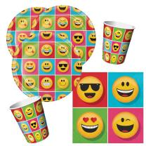 32-teiliges Party-Set Emojions - Teller Becher Servietten...