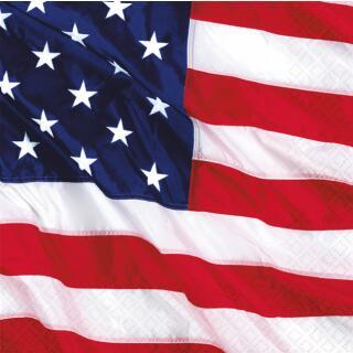 48-teiliges Party-Set USA - Amerikanische Flagge - Teller Becher Servietten f...