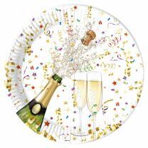 Silvester Party-Set - Sektflasche - Teller Becher...