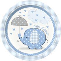 48-teiliges Party Set Baby Elefant blau - Babyparty -...