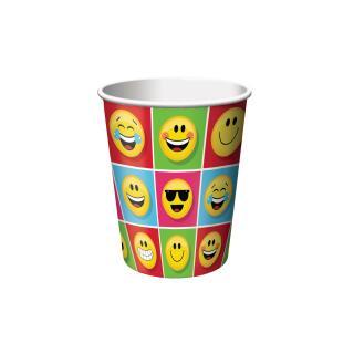 48-teiliges Party-Set Emojions - Teller Becher Servietten für 16 Kinder