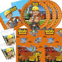 37-teiliges Party-Set Bob der Baumeister - Teller Becher...