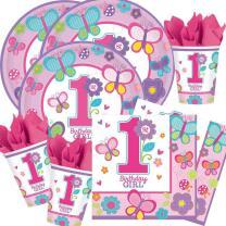 48-teiliges Party-Set 1. Geburtstag  Sweet Birthday Girl...