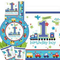33-teiliges Party-Set 1. Geburtstag Junge birthday boy -...