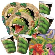 48-teiliges Party-Set Dinosaurier - Dino - Alarm - Teller...