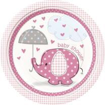 57-teiliges Party Set Baby Elefant rosa - Babyparty -...
