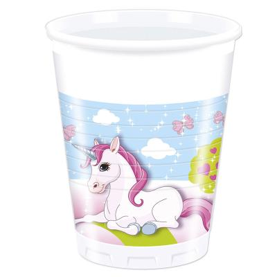 37-teiliges Party-Set Einhorn (Procos)  - Unicorn - Teller Becher Servietten Tischdecke für 8 Kinder