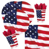32-teiliges Party-Set USA - Amerikanische Flagge - Teller...