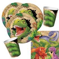 32-teiliges Party-Set Dinosaurier - Dino - Alarm - Teller...