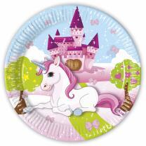 36-teiliges Party-Set Einhorn (Procos) - Unicorn - Teller Becher Servietten für 8 Kinder