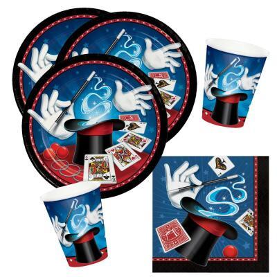 Zauberer Magier Tischdecke 137x259cm 1 Stück  Kindergeburtstag Mottoparty Party