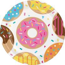 32-teiliges Party-Set - Donut - Teller Becher Servietten...