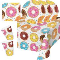 33-teiliges Party-Set - Donut - Teller Becher Servietten...