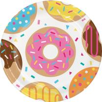 48-teiliges Party-Set - Donut - Teller Becher Servietten...