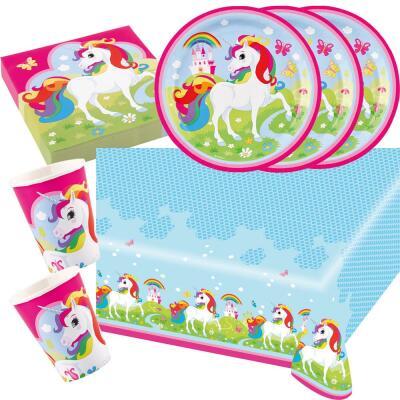37 teiliges party set einhorn amscan unicorn teller for Kinder party set