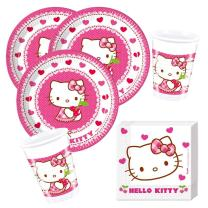 36- teiliges Party-Set Hello Kitty Teller Becher...