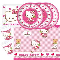 37- teiliges Party-Set Hello Kitty Teller Becher...