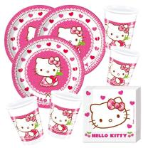 52- teiliges Party-Set Hello Kitty Teller Becher...