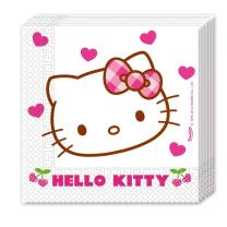 Hello Kitty Hearts  20 Servietten, 33 x 33 cm