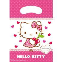 Hello Kitty Hearts Partytüten, 6 Stück