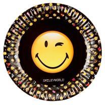 Smiley Emoticons - 8 Teller - Pappteller 23 cm