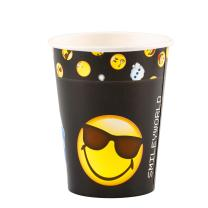 Smiley Emoticons - 8 Becher - Pappbecher 0,25 l