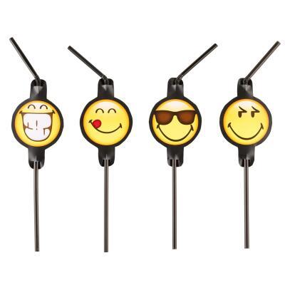 Smiley Emoticons - Trinkhalme, 8 Stück