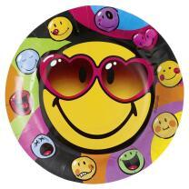 Smiley Express Yourself - 8 Teller - Pappteller 23 cm