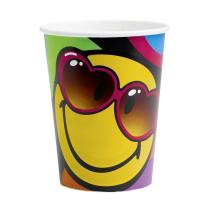 Smiley Express Yourself - 8 Becher - Pappbecher 0,25 l
