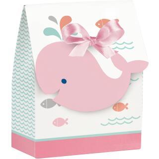 Baby Party Baby shower -  Kleiner Wal rosa -  12 Geschenkboxen