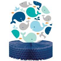 Baby Party Baby shower - Kleiner Wal blau  - Centerpiece...