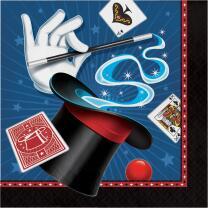 Zauberer Party -  Servietten, 16 Stück,  33 x 33 cm