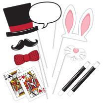 Zauberer Party - Foto Booth Set - Fotorequisiten 10-teilig