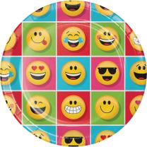 Smiley Emojions  Party  -  Teller, 8 Stück 23 cm