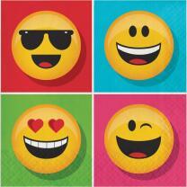Smiley Emojions Party -  Servietten, 16 Stück,  33 x...