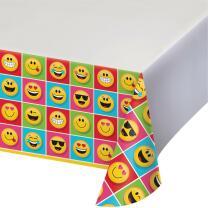 Smiley Emojions Party - Tischdecke 137 x 259 cm
