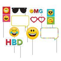 Smiley Emojions Party - Foto Booth Set - Fotorequisiten...