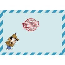 Detektiv Flo Party -  8 Einladungen mit Umschlag