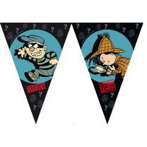 Detektiv Flo Party -  Wimpelkette 3,60 m