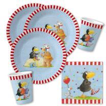 36-teiliges Party-Set - Der kleine Rabe Socke - Teller...
