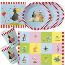 42-teiliges Party-Set - Der kleine Rabe Socke - Teller...