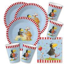 52-teiliges Party-Set - Der kleine Rabe Socke - Teller...
