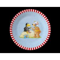 Der kleine Rabe Socke Party - Teller, 8 Stück  23 cm