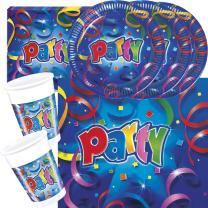 37-teiliges Party-Set Party Streamers  - Teller Becher...