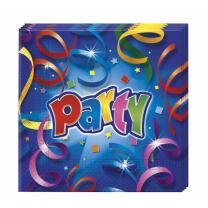 Party Streamers  - Servietten,  20 Stück 33 x 33 cm