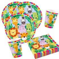 36-teiliges Party-Set Tiere - Dschungel - Jungle  -...